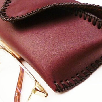 horween leather glasses case mans standard