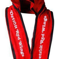 NHL Detroit Red Wings Red Hooded Knit Scarf
