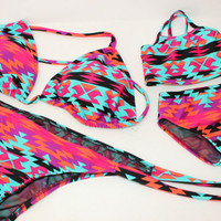 Aztec Mommy and Me Bikini Set