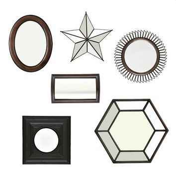 DECORATIVE DRAPER MIRROR SET OF 6 | EICHHOLTZ
