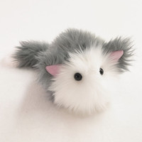 Buddy Kitty Cat Gray and White Stuffed Toy Plushie - Medium Size