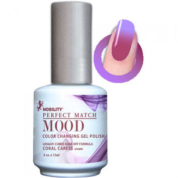 Lechat Perfect Match Mood Gel - Coral Caress 0.5 oz - #MPMG11