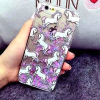 Sparkle Glitter Unicorn Horse Phone Cases Cover For iPhone