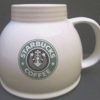 Starbucks Chubby Coffee Mug Cup Wide Bottom Vintage Belly Button Split Tail Logo