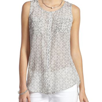 Lucky Brand Mosaic Triangles Tank Womens - Gray Multi