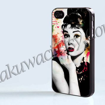 Audrey Hepburn Quotes Colorful - iPhone 4 case - iPhone 4S case - Samsung Galaxy S3/S4 - iPhone case - Hard Plastic - Case Soft Rubber Case