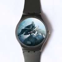 Custom Game of Thrones Watches Classic Black Plastic Watch WT-0813