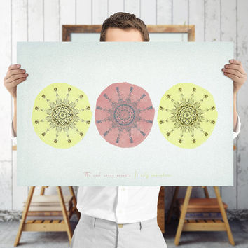 Abstract Geometric Mandala Art Print - Indie Wall Art, Digital Download | Printable Bohemian Decor by Mila Tovar