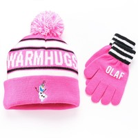 Disney's Frozen Olaf ''Warm Hugs'' Hat & Gloves Set - Girls 7-16