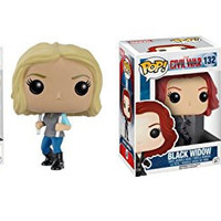 Funko POP Marvel Captain America Civil War: Agent 13 and Black Widow Toy Action Figure - 2 Piece BUNDLE