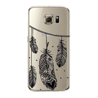 Samsung Galaxy S4 S5 S6 S6Edge S6EdgePlus Note 4 Note 5 Soft TPU Colorful Clear Phone Case