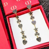 Dior Classic Stylish Women Retro Pendant Earrings Accessories Jewelry