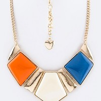 PAVED STONE COLLAR NECKLACE SET