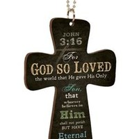 Cross Car Charm - John 3:16 | Mardel