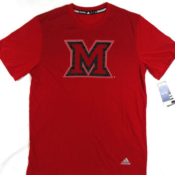 Miami University of Ohio Redhawks Adidas ClimaLite Performance T Shirt Size L
