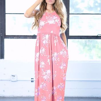 Lisandra PINK Floral Maxi