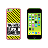 Warning Protected By German Shepherd Case for Apple iPhone 5C