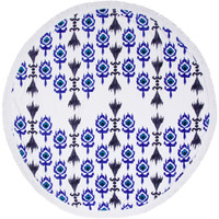The Globe Trotter Round Beach Towel Roundie