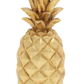 Lovely And Sparkly Golden Pineapple D'cor