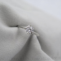 H&A 0.8CT diamond promise ring, Engagement ring, his and hers promise ring, wedding rings, Custom ring, Personalized ring