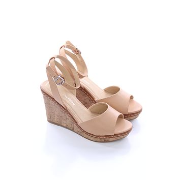 Tan Cork Wedges - Chinese Laundry