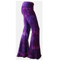 Purple Tie Dyed Yoga Flares rave pants Choose by rarebutterfly