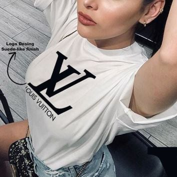 """LV""Hot letters print T-shirt top"