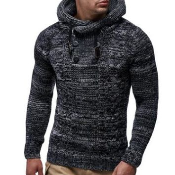 Viking Thick Hedging Sweater - Speckled Black