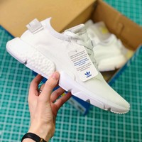 Adidas P.o.d System Pod Triple White Sport Running Shoes - Best Online Sale