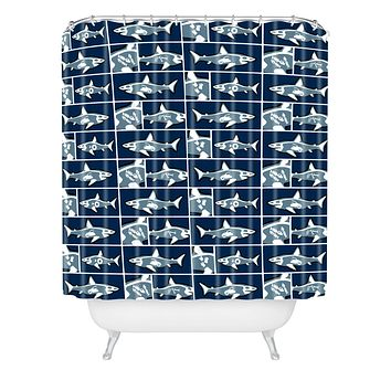 Raven Jumpo Shark X Ray Shower Curtain