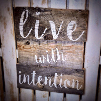 Rustic Reclaimed Barn Wood Sign  Inspirational sign Wood sign Quote Barn Wood Sign Custom Quote Saying