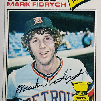 1977 Topps #265 Mark Fidrych ROOKIE CARD, Pitcher, ROY, Detroit Tigers, Bird