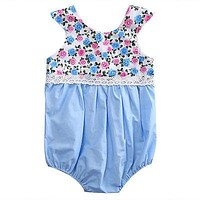 Newborn Baby Girl Clothes Lace Floral Romper Sleeveless Jumpsuit Outfits