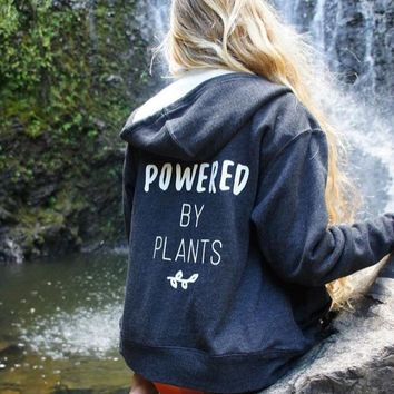 Powered by Plants - Heavyweight Hoodie (with zip)