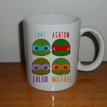 Tenage Mutant Ninja Turtles 5 Second of Summer - Mug  Coffee Mug, Tea Mug, Mug for Gift,mug coffee, mug tea, size 8,2 x 9,5 cm