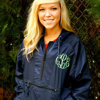 MONOGRAMMED Hooded Rain Jacket available in sizes S-XL