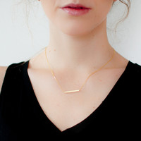 bar necklace {gold}