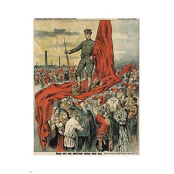 WELCOME the RED ARMY of WORKERS vintage poster russia SOVIET UNION 24X36