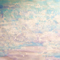 Original Colorful Large Painting - Pure Clouds - Original Watercolor, Aquacolor Painting - Nursery Home Decor