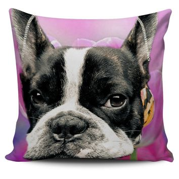 Boston Terrier(Dog) Pillow Cover-3D Print-Free Shipping