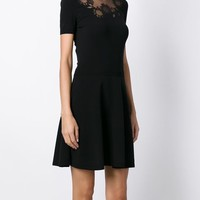 Red Valentino Embroidered Mesh Panel Flared Dress - Luisa Boutique - Farfetch.com