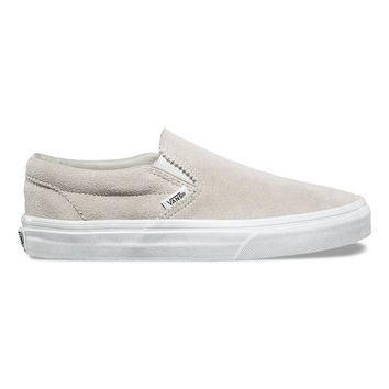 Vans Classic Slip On(Pinked Suede)Silver Line