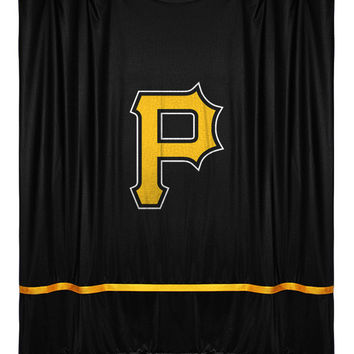 Pittsburgh Pirates Sidelines Shower Curtain