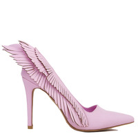 Y.R.U. Pink Angyl Wing Pointed Toe Pumps