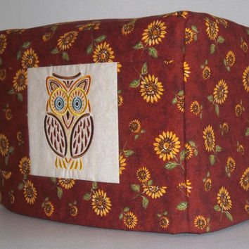 2 Slice Toaster Cover -  Mola Owl with Sunflowers