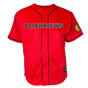 Chicago Blackhawks Baseball Jersey - Big & Tall
