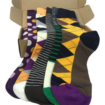 5 Pair Men's Power Socks - Cali Collection