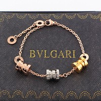 8DESS BVLGARI Women Fashion Plated Chain Bracelet
