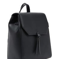 Faux Leather Structured Backpack