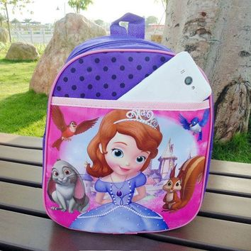 VONC1Y cartoon backpacks for kindergarten kids elsa sofia bag school bag for children